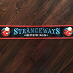 Strangeways Custom Red/Black Bar Mat