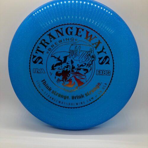 blue frisbee